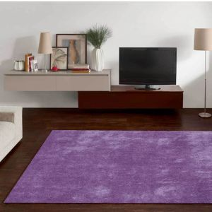Alessia-UNI-220 Light Purple Shaggy Rug by Theko
