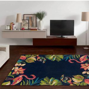 Rosetta-GF-20-605 Anthracite Multi Rug by Theko