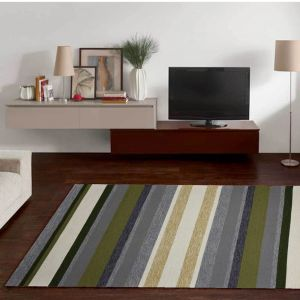 Rosetta-GF-022-305 Green Multi Rug by Theko