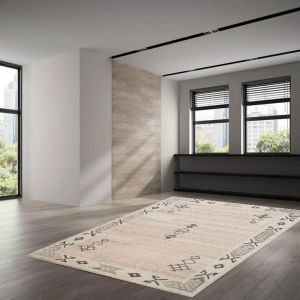 018-990 Royal Berber Melange Natural Wool Rug by Theko