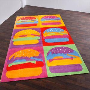 Theko Menorca Burger Multi Kids Rug