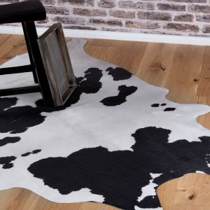 Toledo TOL 190 Black White Shaggy Rug by Obsession