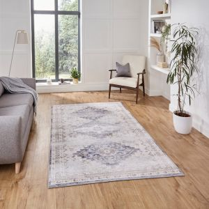 Topaz H1265 Grey Beige Traditional Rug by Think Rugs