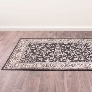 Traditional Poly Coronation Grey Rug by Rug Style