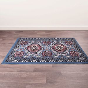 Traditional Poly Kayo Blue Rug by Rug Style
