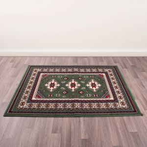 Traditional Poly Malak Green Rug by Rug Style
