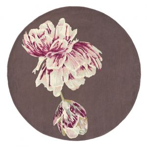 Tranquility 56005 Aubergine Hand Tufted Wool Rug by Ted Baker
