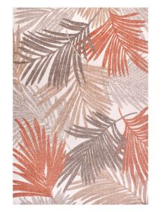 Tropical Cut Pile Terracotta Outdoor Rug by Ultimate Rug