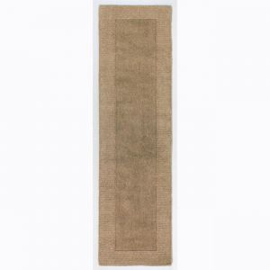 Tuscany Sienna Natural Plain Runner By Flair Rugs