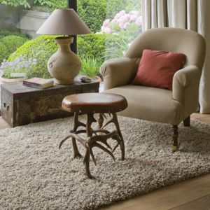 Twilight 039 0001 2868 Beige White Shaggy Rug by Mastercraft