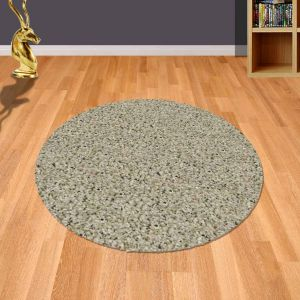 Twilight 039 0001 6611 Linen Shaggy Circle Rug by Mastercraft