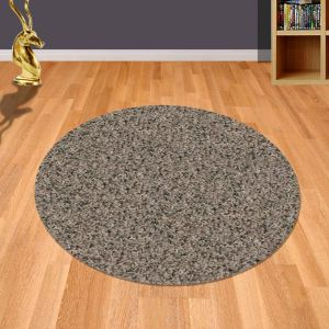 Twilight 039 0001 7676 Mink Shaggy Circle Rug by Mastercraft