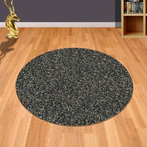 Twilight 039 0001 7722 Brown Bronze  Shaggy Circle Rug by Mastercraft
