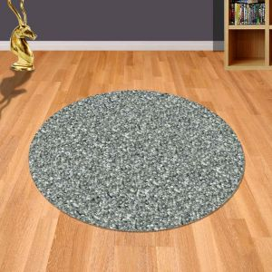 Twilight 039 0001 9999 Silver Shaggy Circle Rug by Mastercraft