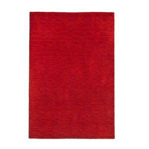 UNI-201 Haltu Red Harmony Wool Rug by Theko