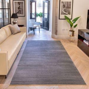 UNI-903 Grey Plain Rug by Concept Looms