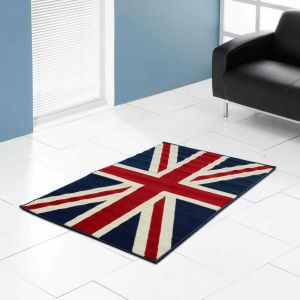 Themed Poly Union Jack Navy Rug by Rug Style