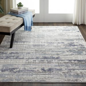 Urban Décor URD01 Silver Ivory Rug by Nourison