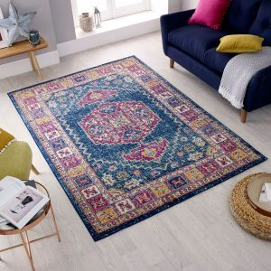Urban Traditional Blue Multi Rug by Flair Rugs