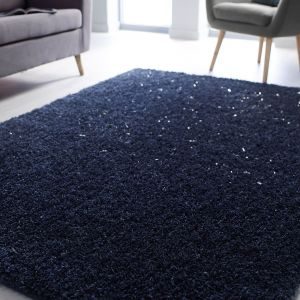 Veloce Blue Shaggy Rug by Flair Rugs
