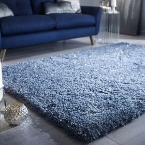 Veloce Duck Egg Shaggy Rug by Flair Rugs