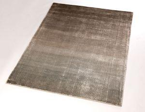 Velvet Earth Grey Plain Rug by ITC