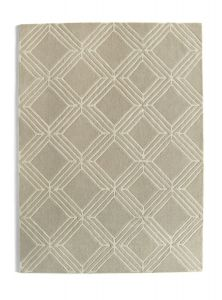 Vienna Mink Geometric Wool Rug by Origins