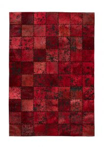 Voila 100 Red Leather Rug by Arte Espina