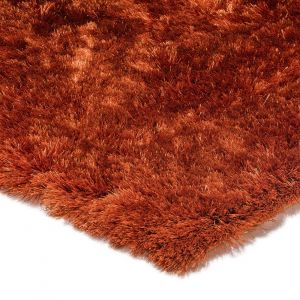 Whisper Rust Super Soft Shaggy Rug By Asiatic