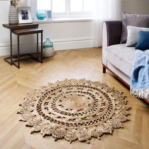 Zarla Natural Circle Rug by Oriental Weavers