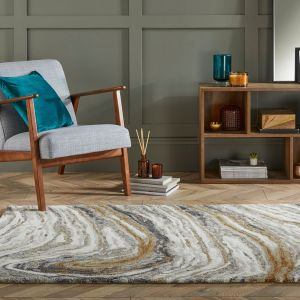 Zest Jarvis Natural Multi Abstract Rug by Flair Rugs