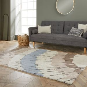 Zest Woodgrain Natural Rug by Flair Rugs
