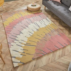Zest Woodgrain Terracotta Rug by Flair Rugs
